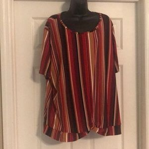 NWT rue21 Plus size 4X red striped top